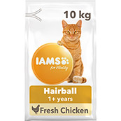Iams Cat Hairball 10kg (Online Only)
