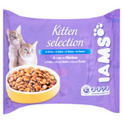 Iams Cat Wet Kitten Food with Chicken in Gravy 4 x 100g (Online Only)