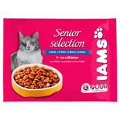 Iams Cat Wet Mature and Senior Selection in Gravy 4 x 100g (Online Only)