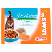 Iams Cat Wet Adult Fish Selection in Jelly 4 x 100g (Online Only)