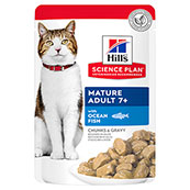 Hills Science Plan Feline Mature Adult Ocean Fish 85g Pouch