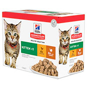 Hill's Science Plan Feline Kitten Poultry Selection Multi Pack 12x85g Pouches
