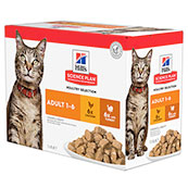 Hill's Science Plan Feline Adult Poultry Selection Multi Pack 12x85g Pouches