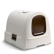 Cream Rattan Covered Litter Tray  (Online Only)