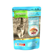 Natures Menu Chicken, Salmon and Cod Senior Cat Pouch 100gm