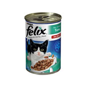 Felix Chunks In Jelly Tuna Cat Food Tin 400g (Online Only)