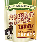 James Wellbeloved Crackerjacks with Turkey Biscuits for Dogs 225gm