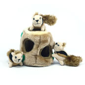 Plush Puppies Hide A Squirrel Dog Toy Large