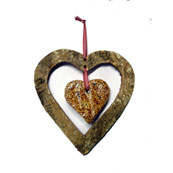 Silver Birch Heart Shaped Feeder