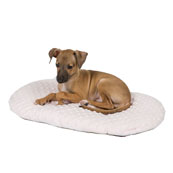 Puppy Plush Oval Pink Cushion