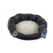 Chenille Memory Foam Oval Bed