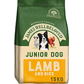 James Wellbeloved Junior Lamb and Rice 15Kg