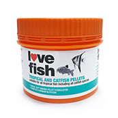 Love Fish Tropical / Coldwater Fish Food Pellets 50g