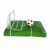 Football Pitch and Net Aquarium Decoration