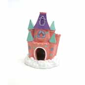 Pink Fairy Castle Aquarium Decoration