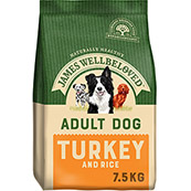 James Wellbeloved Turkey and Rice Adult 7.5kg (Online Only)