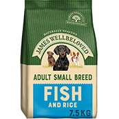James Wellbeloved Dog Food Fish and Rice Adult Small Breed 7.5kg (Online Only)
