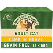 James Wellbeloved Lamb Adult Cat Food Pouch 12 x 85g