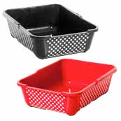 Dotty Rimmed Cat Litter Tray