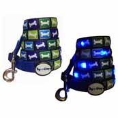 DogEGlow Blue Bone Lead (Online Only)
