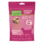 Natures Menu Freeze Dried Cat Snacks Chicken and Rabbit (Online Only)