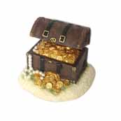 Bubbling Treasure Chest Aquarium Decoration