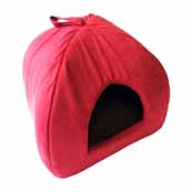 Red Igloo Cat Bed