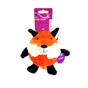 Plush Round Fox Dog Toy
