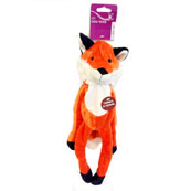 Plush Long Crinkle Fox Dog Toy