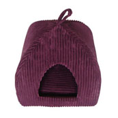 Plum Jumbo Cord Cat Igloo