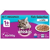 Whiskas Pouch Jelly Fishermans Choice 100g x 40 Pack