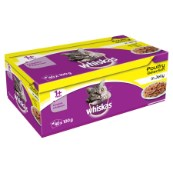 Whiskas Pouch Jelly 40 for 32 x 100g Poultry Selection