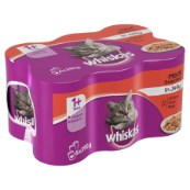 Whiskas Can Jelly Mixed Meat 6 x 390g Pack