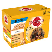 Pedigree Pouch Jelly Senior 12 x 100g pack