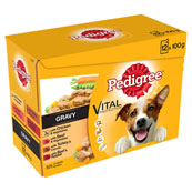 Pedigree Pouch Real Meals in Gravy 12 x 100g pack