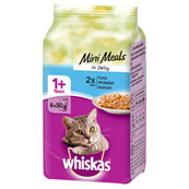 Whiskas Pouch Fish Selection in Jelly 6 x 50g