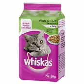 Whiskas Pouch Fish and Meat Selection in Jelly 6 x 50g