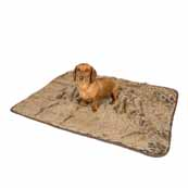 Teddy Fur Chocolate Dog Throw