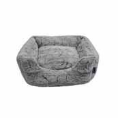 RSPCA Plush Rectangular Grey Cat Bed