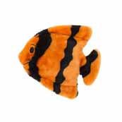 Kyjen Orange Invincible Fish 2 Squeak Dog Toy