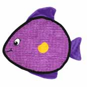 Kyjen Purple Fish Squeaker Mat 9 Squeak Dog Toy