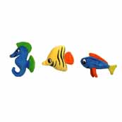 Kyjen Squeakin Animals Fish 3 Pack Dog Toy