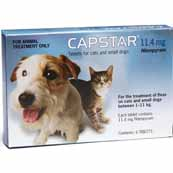 Capstar 11mg Small Dog/Cat Flea Treatment 6 Tablets (Online Only)