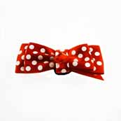 Spot Ribbon Dog Accessory Red