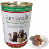 Zealandia Beef and Vegetables with Green-Lipped Mussel Natural Dog Food 390g (Online Only)