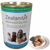 Zealandia Lamb and Vegetables with Green-Lipped Mussel Natural Dog Food 390g (Online Only)