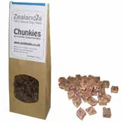 Zealandia Chunkies Natural Dog Treats 100g (Online Only)