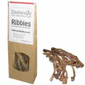 Zealandia Ribbies Natural Dog Treats 80g (Online Only)