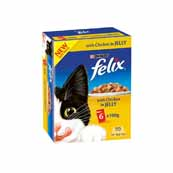 Felix Pouch Chunks In Jelly Chicken 6 x 100g Cat Food