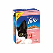 Felix Pouch Chunks In Jelly Salmon 6 x 100g Cat Food